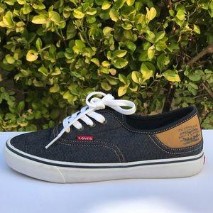 Levi Strauss denim-canvas sneakers | size 8